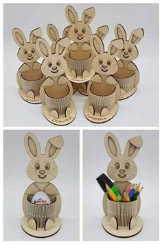 The vector file Laser Cut Bunny Egg Holder CDR File is a Coreldraw cdr ( .cdr ) file type, size is KB, under diy puzzle vectors. Bunny Crafts, Easter Crafts, Laser Cutter Projects, Pot A Crayon, Easter Bunny Eggs, Diy Ostern, Egg Holder, Laser Cut Files, Laser Cut Wood