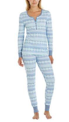 Jane & Bleecker Ladies' Thermal Pajama Set