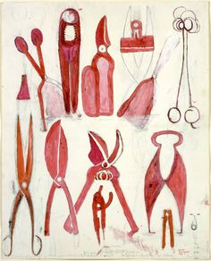 Louise Bourgeois, Untitled (Tools), 1986  There is something quite exquisite about tools, especially when they are grouped.
