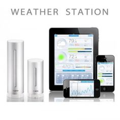 The Netatmo Urban Weather Station.The First Personal Weather Station for iPhone and Android with Air Quality measurements, to monitor and track your environment. Home Gadgets, New Gadgets, Gadgets And Gizmos, Ipad, Personal Weather Station, Best Smart Home, Smart Home Security, Smart Home Technology, Android