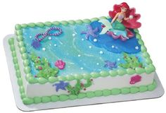 Are you hosting a Disney Little Mermaid Birthday Party for your kids upcoming birthday? Do you need help in baking some Little Mermaid Birthday Cake or Cupcakes? Check out all types of cute and sweet Disney Little. Little Mermaid Cake Topper, Little Mermaid Birthday Cake, Little Mermaid Parties, The Little Mermaid, Ariel Cake, Pearl Cake, Cake Decorating Kits, Cake Kit, Sea Cakes