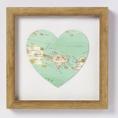 bali map print heart by bombus off the peg | notonthehighstreet.com