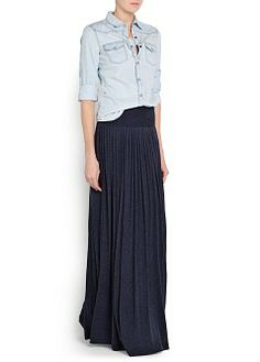 MANGO - CLOTHING - NEW COLLECTION - Skirts - PLEATED LONG SKIRT
