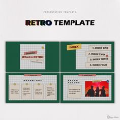 RETRO template, ppt template, 레트로 템플릿, 피피티 템플릿 Poster Design Layout, Brochure Design, Branding Design, Presentation Design, Presentation Templates, Ppt Template Design, Ps Tutorials, Singapore Art, Social Media Design
