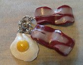 Bacon and eggs charm