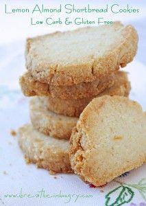 Lemon Almond Shortbread Cookies