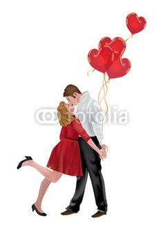 Couple in love with Heart Balloons • crazycolors © fotolia