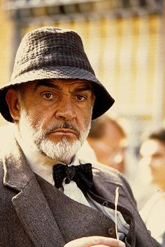 """Sean Connery on the set of """"Indiana Jones and the Last Crusade"""" (1989)"""