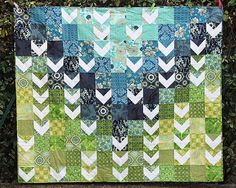 Flocking Chevrons Quilt