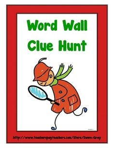 Weekly Freebie: FREE Word Work Resource  Free from Dawn Gray on TpT    Word Wall Clue Hunt