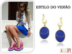 Bom dia! #alliipijoias #pedrasnaturais #allipi #moda #look #dica #azulanil #trend #top #semijoias #showroom #atacado