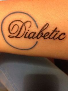 Diabetes and Body Art: Getting Tattooed Safely Real Tattoo, 1 Tattoo, Tattoo Fonts, Get A Tattoo, Tattoo Quotes, Diabetes Tattoo Type 1, Type One Diabetes, Blood Type Tattoo, Medical Alert Tattoo