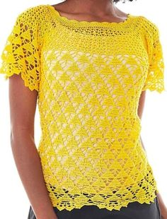 Short Sleeve Dresses, Dresses With Sleeves, Crochet Top, Shirts, Tops, Women, Fashion, Crochet Doll Clothes, Crocheting