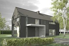 Modern Farm House, bar house style. Love the materials shown in this rendering works well.