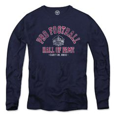 Pro Football Hall of Fame @'47 Brand Long Sleeve Scrum Vintage T-Shirt. Click to order! - $39.99