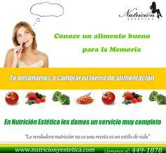 Conoce un alimento bueno para la memoria. NUTRICIÓN ESTÉTICA Html, Dietitian, Insomnia, Grief, Get Skinny, Remedies, Diets, Food Items