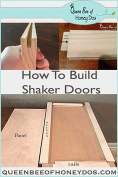 Easy Woodworking Projects See how easy it is to build shaker doors for cabinets with this DIY technique! Woodworking For Kids, Woodworking Classes, Easy Woodworking Projects, Popular Woodworking, Woodworking Furniture, Custom Woodworking, Diy Wood Projects, Woodworking Plans, Wood Furniture