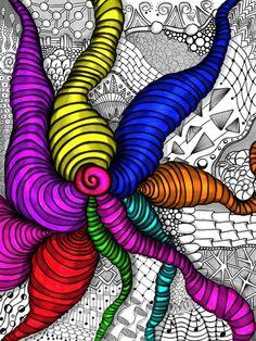 Zendoodle color splash, by Danielle Vayda :)