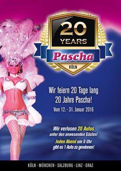 20 Jahre Pascha Köln Salzburg, Movie Posters, Movies, 20 Years, Linz, Ladder, Group, January, World