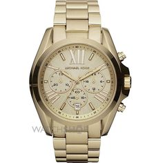 Celebrities who wear, use, or own Michael Kors Golden Mid-Size Bradshaw Chronograph Watch. Also discover the movies, TV shows, and events associated with Michael Kors Golden Mid-Size Bradshaw Chronograph Watch. Michael Kors Schmuck, Bijoux Michael Kors, Michael Kors Gold, Michael Kors Watch, Michael Watches, Outlet Michael Kors, Handbags Michael Kors, Sport Watches, Watches For Men