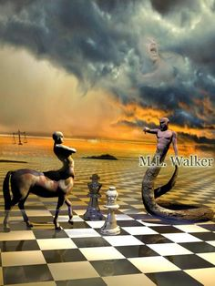 Serpent And The Tempest,  chess art, abstract, cubist, surreal, painting, woman, player, game, playing chess, chess posters, chess artwork