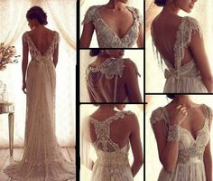 Fashion And Style: 2014 latest wedding dress boho, hippie's inspiration