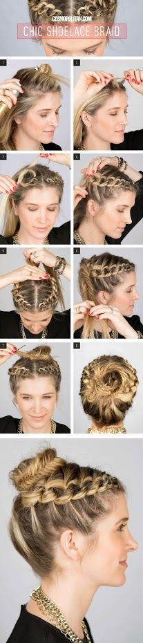 This is a great braid for thos who are having Bohemian Weddings, Really I recommend it for any day too ~