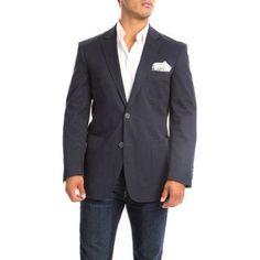Verno Marchesi Men's Navy Classic Fit Cotton Sport Coat, Size: 40R, Blue