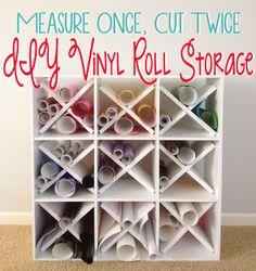 Measure Once, Cut Twice: DIY Vinyl Roll Storage