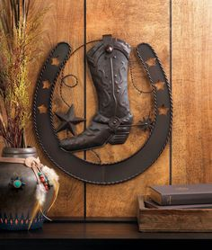 Add Some Western Style To Your Wall With This Cool Cast Iron Cowboy Decor.