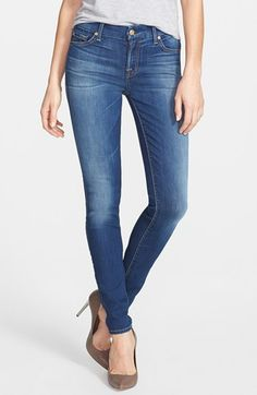 7 For All Mankind® 'The Skinny' Jeans (Blue Shadows) available at #Nordstrom