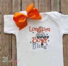 https://www.etsy.com/listing/181351614/ut-university-of-texas-longhorns-baby?ref=listing-8  UT University of Texas Longhorns  Baby by AllThatSassBoutique, $21.00