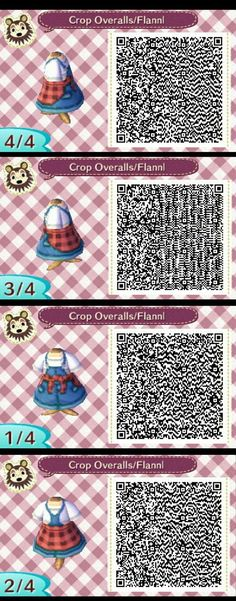 Overall mit Hemd in der Taille gebunden - - New Ideas - acnl-qr-c. - Overall mit Hemd in der Taille gebunden – – New Ideas – acnl-qr-code – Source by kidneydesu - Animal Crossing 3ds, Cabello Animal Crossing, Animal Crossing Town Tune, Animal Crossing Qr Codes Clothes, Code Wallpaper, Ac New Leaf, Pin On, Cute Baby Animals, Pets
