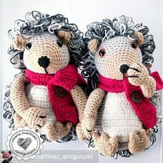 Hedgehog brothers crocheted by @mariamartinez_amigurumi from the book #zoomigurumi3 . #amigurumi #amigurumitoy #crochet #crochetlove by amigurumipatterns