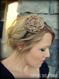 Hey, I found this really awesome Etsy listing at https://www.etsy.com/listing/73540031/headband-for-women-camel-flower-headband