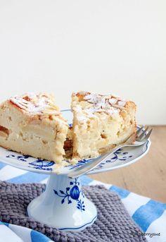 Apfel-Mandel-Kuchen mit Quark #kuchen #rezepte #herbst #apfelkuchen