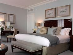 male bedroom in taupe and duck egg - Google Search