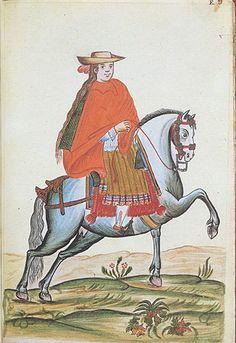 Manuscritos de América en las Colecciones Reales - Trujillo del Perú - Siglo XVIII - Española a caballo