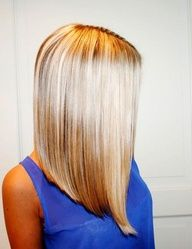 A big trend in hair is the long bob, not long hair, not short hair, but cut somewhat blunted and just above the shoulders. Here are the pictures of 10 long bob. Cut My Hair, New Hair, Hair Cuts, Long Bob Haircuts, Hairstyles Haircuts, Bouffant Hairstyles, Beehive Hairstyle, Wedge Hairstyles, Updos Hairstyle