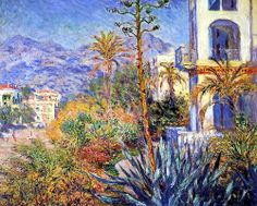 elpasha71: Villas in Bordighera Claude Oscar Monet 1884