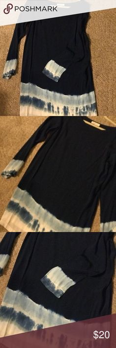 Brand New Tie Dyed Dress Brand New with Tags long sleeve dress. This dress is so cute and perfect for colder weather with its long sleeves, pair with leggings and boots and you have the perfect winter outfit. This dress is ready to ship today! sugar + lips Dresses Midi