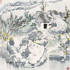 Wu Guanzhong's Bamboo | Chinese Painting | China Online Museum