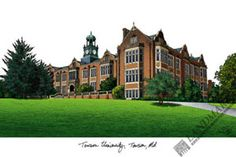 Towson University Campus Images Lithograph Print, Size: 14 inch x 10 inch Towson University, University Housing, Vanderbilt University, State University, Towson Tigers, Ucla Campus, Valdosta State, Residence Life, Picture Frames