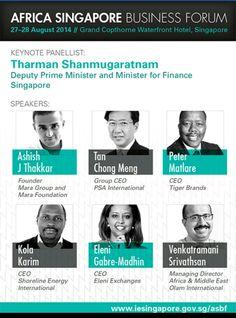 Africa Singapore Business Forum Panelists