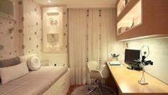 Arquitetura de Interiores - quarto jovem feminino