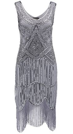 1da768b4348 Flapper Dress Roaring Great Gatsby Costume Small   Black And Gray