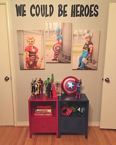19 Beyond clever superhero room ideas that you want to steal - DIY Kinderzimmer Ideen Boys Superhero Bedroom, Marvel Bedroom, Superhero Room Decor, Superhero Dress Up, Superhero Bathroom, Superhero Kids, Superhero Party, Boys Room Decor, Kids Room