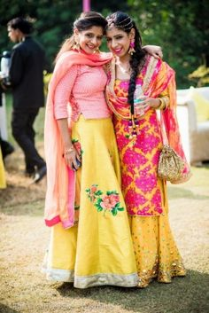 Looking for yellow and pink floral lehenga? Browse of latest bridal photos, lehenga & jewelry designs, decor ideas, etc. on WedMeGood Gallery. Blouse Lehenga, Floral Lehenga, Bridal Lehenga, Lehenga Choli, Sarees, Indian Bridal Wear, Indian Wear, Indian Dresses, Indian Outfits