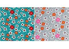 tissu coton 'Fleur des îles' 50x75cm Petit Pan   shop pour enfants Le Petit Zèbre