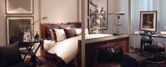 20 Masculine Men's Bedroom Designs – Your Dose Of Bachelor Pad Inspiration} Bedroom Wall, Bedroom Decor, Headboard Decor, Modern Mens Bedroom, Men's Bedroom Design, Bedroom Ideas For Small Rooms Cozy, Navy Blue Bedrooms, Masculine Interior, Traditional Bedroom